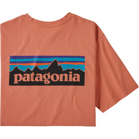 Patagonia P-6 Logo Pocket Camiseta Responsable Hombre, mellow melon